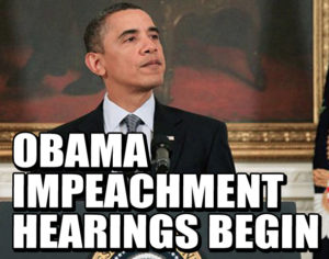 """Obama Impeachment Hearings Begin"" Fake news item"